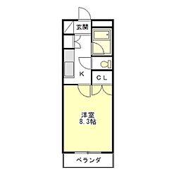 マンションハルカ[3階]の間取り