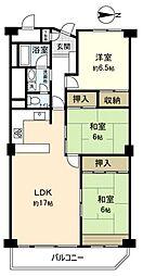 京成サンコーポ勝田台A棟[8階]の間取り