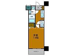 Osaka Metro中央線 弁天町駅 徒歩9分の賃貸マンション 7階1Kの間取り