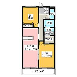 メゾン プラティーヌ[2階]の間取り