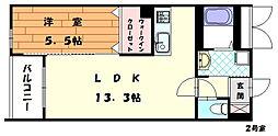 パースペクティブ古賀ししぶ駅前[4階]の間取り