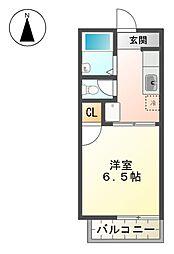 サンハイツ前田[2階]の間取り