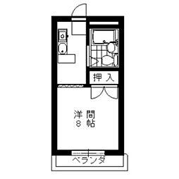 キャピタルハイツA[2階]の間取り