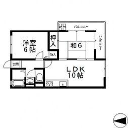 小阪大発マンション[210号室号室]の間取り