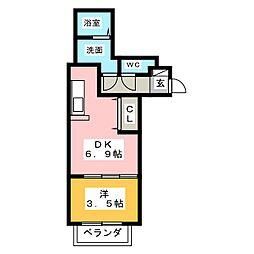 Leciel桜本町II[2階]の間取り