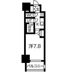 名古屋市営東山線 新栄町駅 徒歩9分の賃貸マンション 5階1Kの間取り