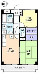 ラ・フォレ薬円台[3階]の間取り