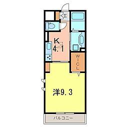 仮)D−room刈谷市矢場町B棟[107号室]の間取り