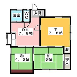 [一戸建] 静岡県静岡市清水区弥生町 の賃貸【/】の間取り