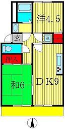 プレジール竹内[1階]の間取り