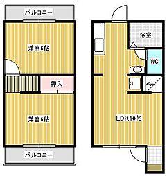 オーキッド六番館[1階]の間取り