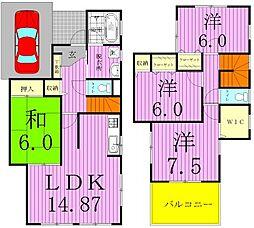 [タウンハウス] 千葉県松戸市新松戸1丁目 の賃貸【/】の間取り