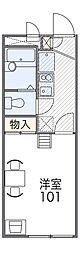 南海高野線 萩原天神駅 徒歩8分の賃貸アパート 2階1Kの間取り