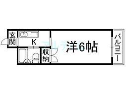 なごみハイツ[5階]の間取り