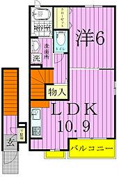 千葉県松戸市日暮8丁目の賃貸アパートの間取り
