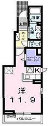 BRISE OGAWA[101号室]の間取り