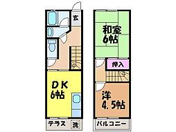 愛媛県松山市室町の賃貸アパートの間取り