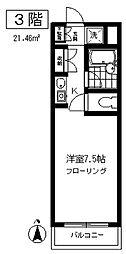 東京都目黒区上目黒4丁目の賃貸マンションの間取り
