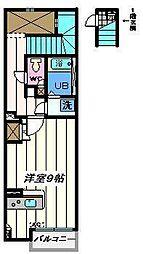 東京都江戸川区松江7丁目の賃貸アパートの間取り