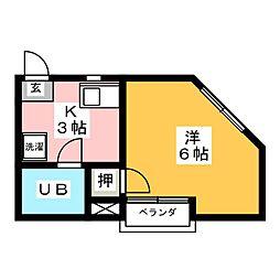 コーポ桜木[3階]の間取り