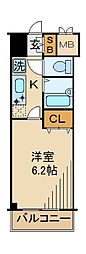 東京都江東区東砂7丁目の賃貸マンションの間取り
