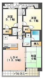 コスモ国分寺ブライトステージ[5階]の間取り