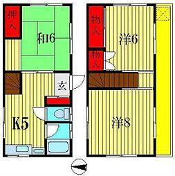 [一戸建] 東京都葛飾区高砂2丁目 の賃貸【/】の間取り
