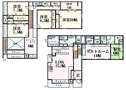 JR東海道・山陽本線 芦屋駅 徒歩3分の賃貸一戸建て 7LDKの間取り