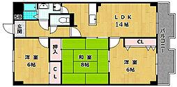 第2ゲートリバーハイツ[1階]の間取り
