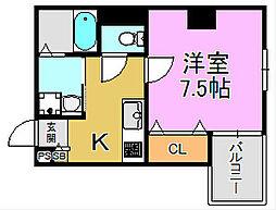 TKアンバーコート堺東[4階]の間取り