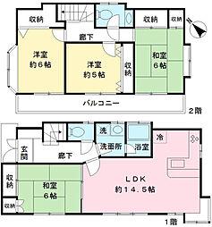 [一戸建] 東京都調布市下石原3丁目 の賃貸【/】の間取り