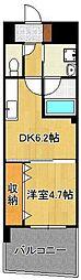ザ.ヒルズ戸畑 8階1DKの間取り