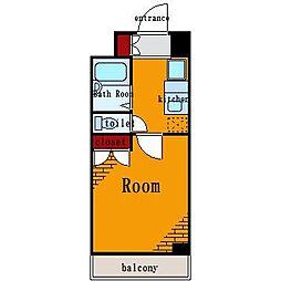 レジディア木場[6階]の間取り