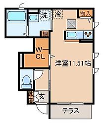 シャーメゾン東藤江[102号室]の間取り