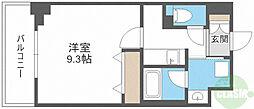 HK Residence 3階1Kの間取り