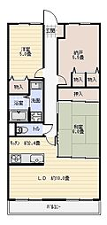 アディーレ八尾[6階]の間取り