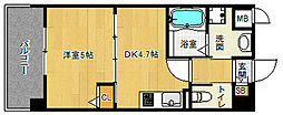 「アクアプレイス京都西院」[6階]の間取り