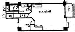 第1ロイヤルハイツ中尾[3階]の間取り