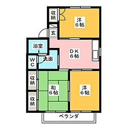 セジュールエイト A B[2階]の間取り