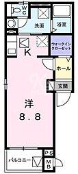 鷹匠町アパート[2-1010号室]の間取り