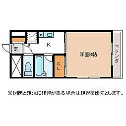メゾン渚[1階]の間取り