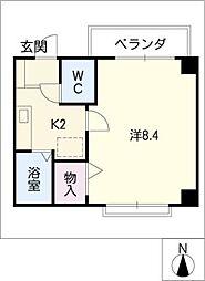 グローリィ[3階]の間取り