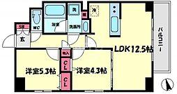アコーツ千代崎 2階2LDKの間取り