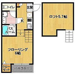 専任新築 六本松4丁目[2階]の間取り