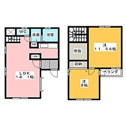 [テラスハウス] 愛知県名古屋市千種区大島町1丁目 の賃貸【/】の間取り