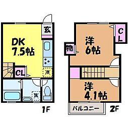 [テラスハウス] 愛媛県松山市西石井2丁目 の賃貸【/】の間取り