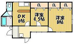 [一戸建] 兵庫県川西市小花2丁目 の賃貸【/】の間取り