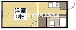 岡山県岡山市南区南輝2丁目の賃貸アパートの間取り