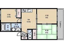 フルール田村[1階]の間取り
