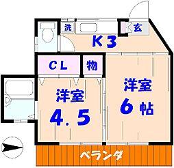 サマリア寮[102号室]の間取り